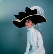 1963: Actress Audrey Hepburn wearing costume designed by Cecil Beaton for the Broadway musical 'My Fair Lady'. (Photo by Cecil Beaton)