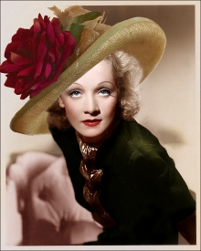 Marlene Dietrich Wears Hat Couture